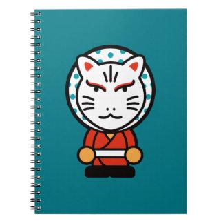 Caderno ilustração do deus da raposa dos desenhos animados