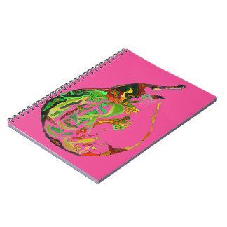 Caderno Ilustração do watercolour do pop art da fruta da