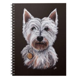 Caderno Ilustração Pastel do animal de estimação do cão