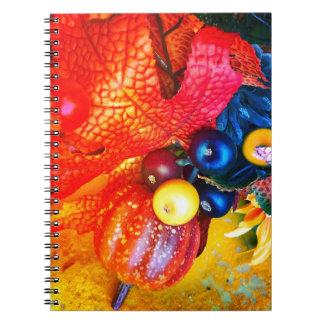 Caderno impressão do outono