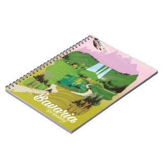 Caderno Impressão do viagem da paisagem de Baviera