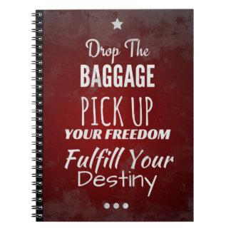 Caderno inspirado para a motivação