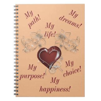 Caderno inspirado - seja você