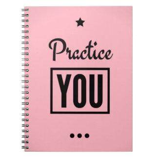 Caderno inspirador: Pratique-o