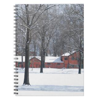 Caderno Inverno no parque