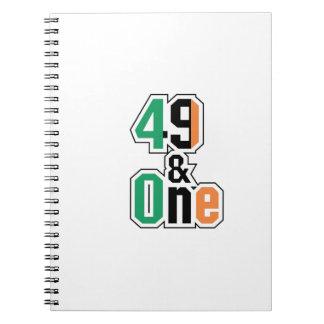 Caderno Irlandês dos fãs de encaixotamento quarenta e nove