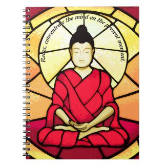 Caderno Janela de vidro da mancha de Bali buddha