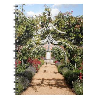 Caderno Jardim inglês velho