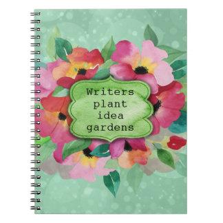 Caderno Jardins cor-de-rosa da ideia da planta dos