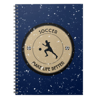 Caderno Jogador de futebol