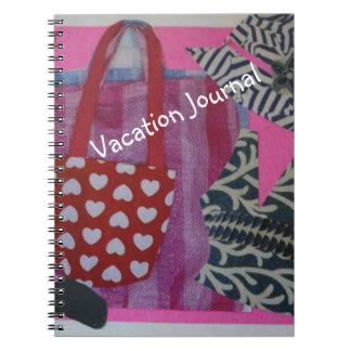 Caderno Jornal cor-de-rosa das férias