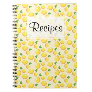 Caderno Jornal da receita do limão