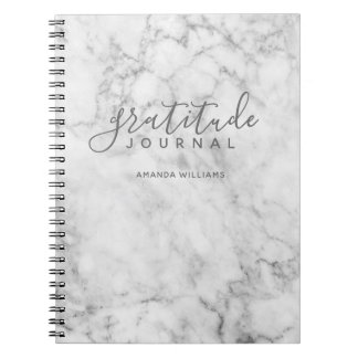Caderno Jornal de mármore da gratitude do teste padrão -