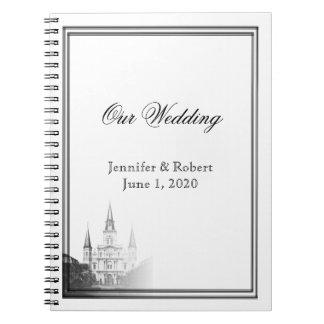 Caderno Jornal do casamento do destino do nanowatt Orleans