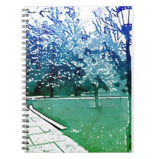 Caderno Jornal do Lamplight do terreno
