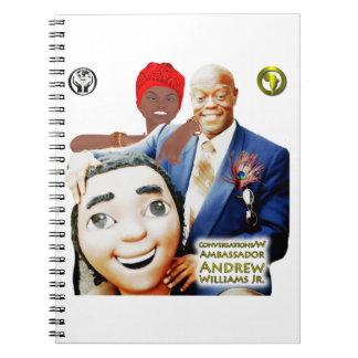 Caderno Jr. das conversações w/Ambassador Andrew Williams