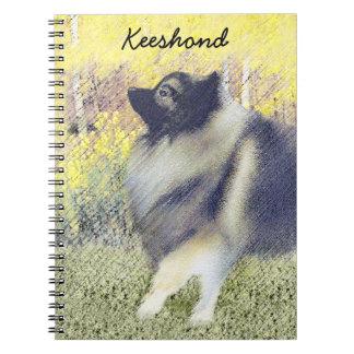 Caderno Keeshond em Aspen