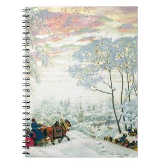 Caderno _Kustodiev do inverno.