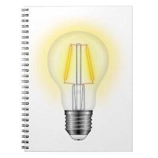 Caderno Lâmpada de fulgor
