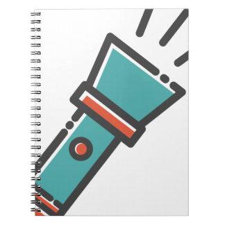 Caderno Lanterna elétrica