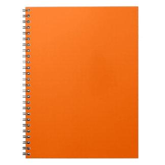 Caderno Laranja da cor da Web do código do Hex #FF6600