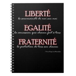 Caderno: Liberté, Egalité, Fraternité Caderno Espiral