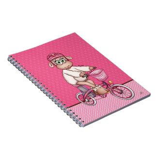 Caderno Lilly os carneiros que montam uma bicicleta
