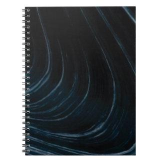 Caderno Linha de fluxo ondulada