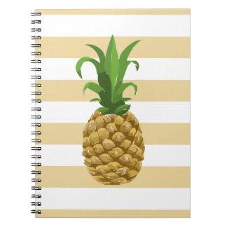 Caderno listrado do abacaxi