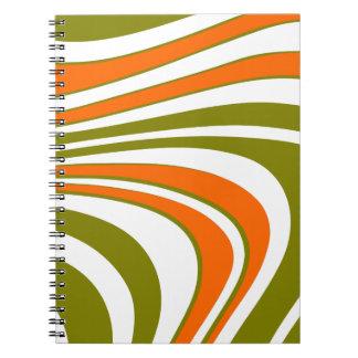 Caderno Listras curvy abstratas