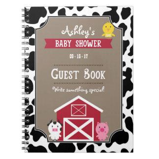 Caderno Livro de hóspedes - animais de fazenda