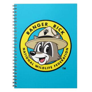 Caderno Logotipo do rick da guarda florestal do rick | da