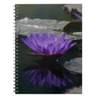 Caderno Lotus roxo Waterlily