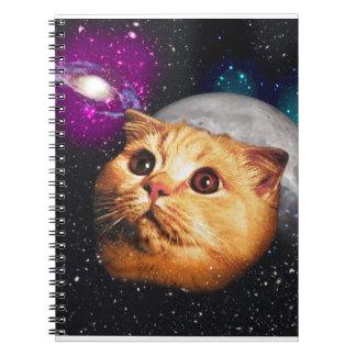 Caderno lua do gato, gato e lua, catmoon, gato da lua