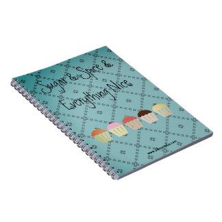 Caderno lunático do cupcake