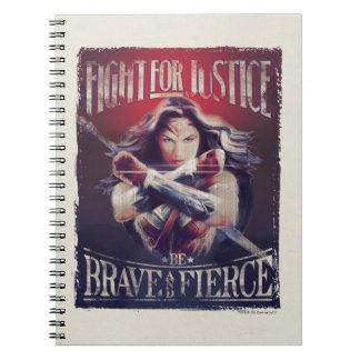 Caderno Luta da mulher maravilha para justiça