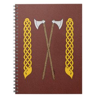 Caderno Machados dinamarqueses cruzados com Plaitwork