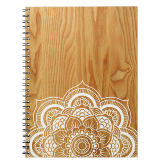 Caderno Madeira e mandala