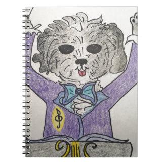 Caderno Maestros do filhote de cachorro