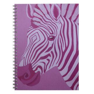 Caderno magenta da zebra