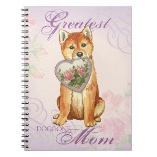 Caderno Mamã do coração de Shiba Inu