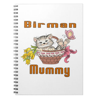 Caderno Mamã do gato de Birman