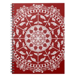 Caderno Mandala da framboesa