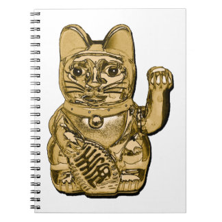 Caderno Maneki dourado Neko