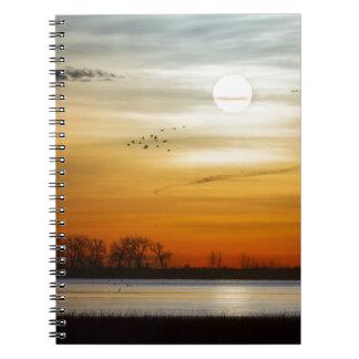 Caderno Manhã bonita do lago