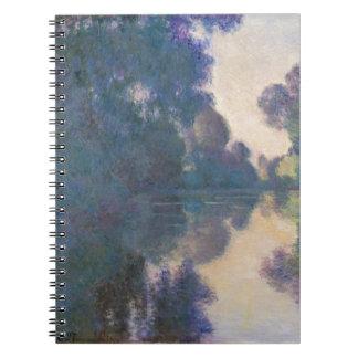 Caderno Manhã no Seine perto de Giverny - Claude Monet.j