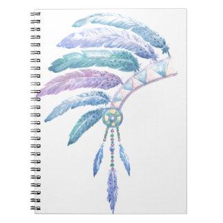 Caderno Mantilha indiana no Watercolour