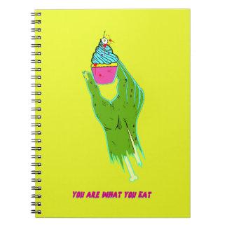 Caderno Mão do zombi - você é o que você come