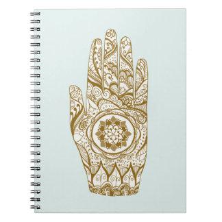 Caderno Mão Lotus do Henna