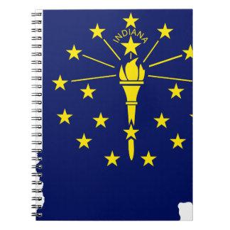 Caderno Mapa da bandeira de Indiana